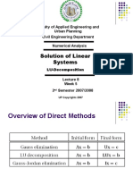 Lecture 8 - LU-Decomposition