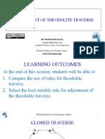 Adjustment of Theodolite Traverse