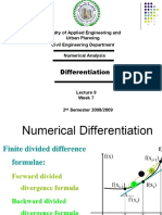 Lecture 9 -Differentiation
