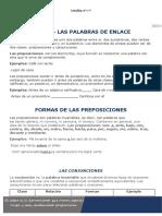 ACTIVIDAD Y TALLER 3-CICLO III- TEMA PALABRAS DE ENLACE (PRESPOSICIONES Y CONJUNCIONES) (1)