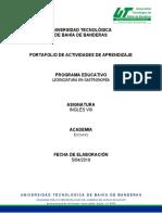 Inglés_VIII_ Lic Gastro portafolio
