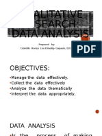 DATA ANALYSIS QUALITATIVE RESEARCH
