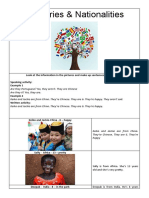 Look at the information in the pictures and make up sentences using Verb BE