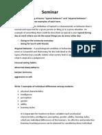 Seminar individual   differences