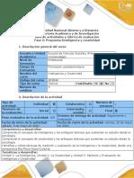 Guía de actividades y rubrica de evaluación - Fase 5 - Propuesta Inteligencia y creatividad