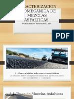 CARACTERIZACION GEOMECANICA DE MEZCLAS ASFALTICAS