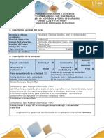 Guía de actividades y rúbrica de evaluación Unidades Fase final - Crear proyecto de información en EverNote