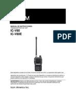 manual do ht Icom IC-V80 em espanhol