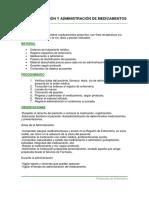 Preparación y administración de medicamento
