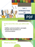 Topic 2 - Introduction to Communication
