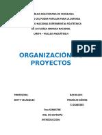 ORGANIZACION DE PROYECTOS