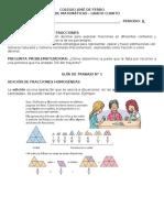 4° GUIA 1 - ADICIÓN SUSTRACCIÓN DE FRACCIONES HOMOGENEAS