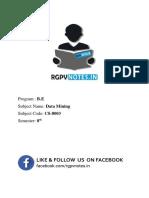 Unit 4 - Data Mining - www.rgpvnotes.in.pdf
