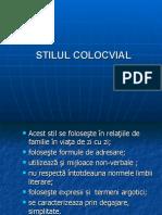 STILUL COLOCVIAL
