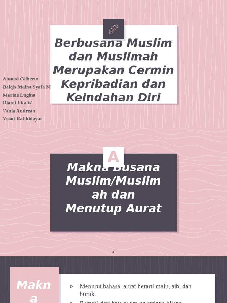 Berbusana Muslim Dan Muslimah Merupakan Cermin Kepribadian Dan Keindahan Diri
