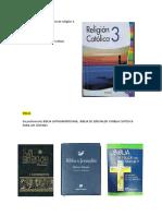 Bibliografía para la materia de religión 3