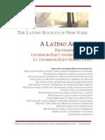 NEWS RELEASE -- Latino Society of New York