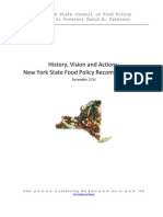 REPORT -- NYS Council on Food Policy