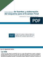 Revisión de fuentes y elaboración de esquema para EF (diapositivas) 2017-2