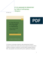 Review of IN HOT PURSUIT OF LANGUAGE IN PREHISTORY edited by John D Bengtson