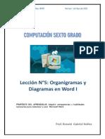 ACTIVIDAD  N°5 DE COMPUTACIÓN 6TO GRADO DE PRIMARIA