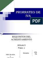 Prorrateo de IVA Art. 5