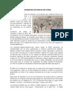 ANTECEDENTES HISTÓRICOS DE FUTBOL