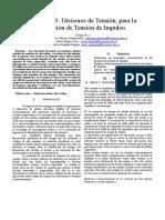 Consulta_3 divisores de tension para tension de impulso