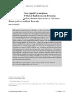 Deterioro Cognitivo Temprano Entre Enfermos de Mal de Parkinson Sin Demencia