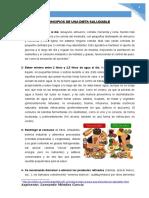 11.APRENDER LOS PRINCIPIOS DE UNA DIETA SALUDABLE Y AYUDAR A PREPARAR UN CUADRO CON LOS GRUPOS BÁSICOS DE ALIMENTOS