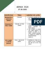 Agenda zilei 07.05.2020