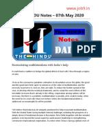 The HINDU Notes 07-05-2020 www.job9.in.pdf