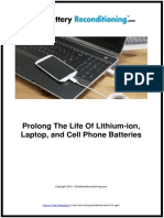 How to Prolong The Life Of Lithium-ion, Laptop, and Cell Phone Batteries?