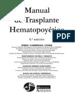 MANUAL DE TRANPLANTE DE PRECURSORES HEMATOPOYETICOS