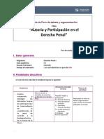 FORO DEBAtE DERECHO PENAL.docx