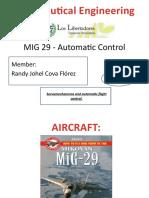 Automatic Control - MIG 29.