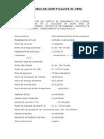 FICHA TECNICA DE IDENTIFICACIÓN DE OBRA