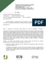 AD2 SOCIOLOGIA DA EDUCAÇÃO 2014 2