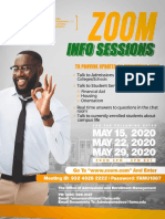 Zoom Sessions for March