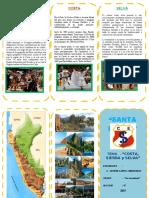 TRIPTICO COSTA, SIERRA Y SELVA