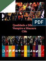 qualidades de defitos de clãs - vampiro a mascara