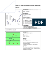 U11  Entrainement techniques defensives