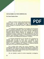 Notas sobre cultura dominicana