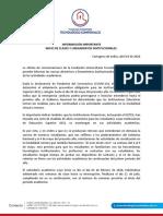 Directrices y lineamientos institucionales