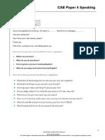 CAE Paper 4 Speaking parts 1-4 (Test 2)