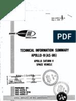Apollo 10 as-505 Apollo Saturn 5 Space Vehicle Technical Information Summary