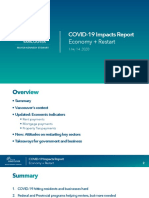 Vancouver COVID-19 Impacts Report Economy + Restart