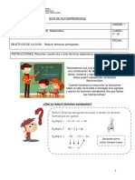 Guía de trabajo de matemáticas para 7° y 8° básico
