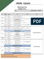 CRONOGRAMAS TELE AULA 2020