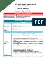 UTESA_Programación_Académica_Cuatrimestre_22020
